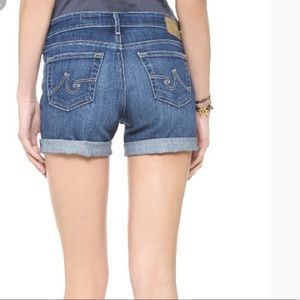Ag Adriano Goldschmied Shorts - AG the Hailey ex-boyfriend roll-up shorts